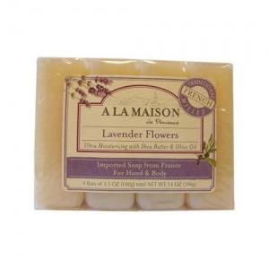 A La Maison Bar Soap - Lavender Flower - Value 4 Pack